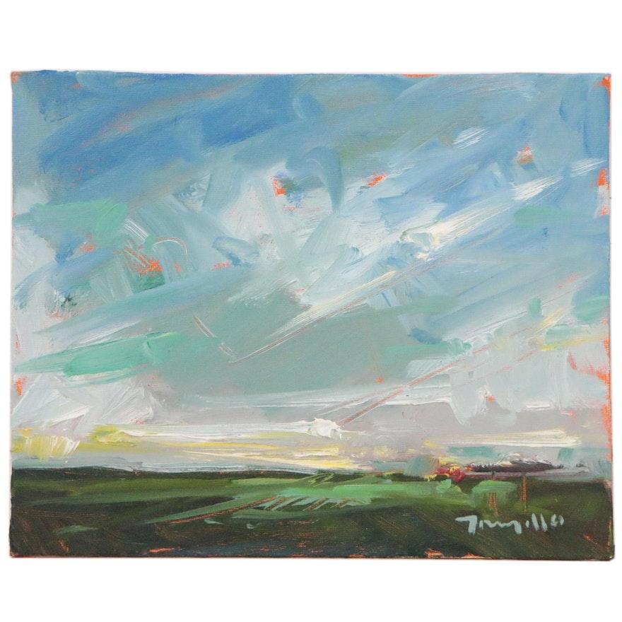 "Jose Trujillo Oil Painting ""Blessed Morning"", 2014"