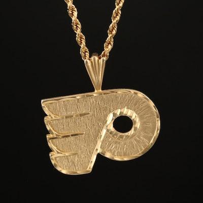 "Michael Anthony 14K ""Philadelphia Flyers"" Pendant Necklace"
