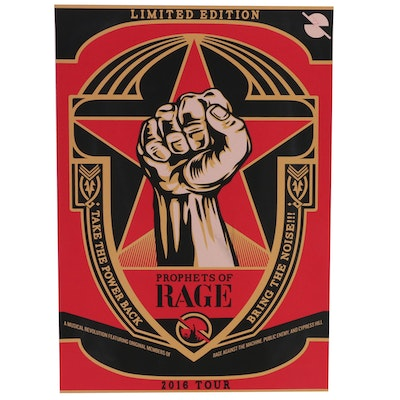 Serigraph after Shepard Fairey of Prophets of Rage 2016 Tour Poster