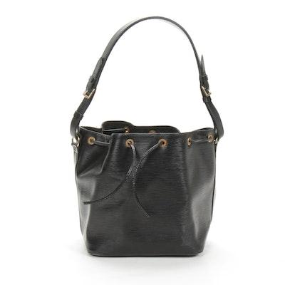 Louis Vuitton Petit Noé Bucket Bag in Black Epi Leather