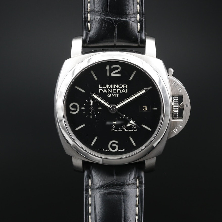 Panerai Luminor 1950 3 Days GMT Power Reserve Stainless Steel Automatic Watch