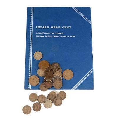 Whitman Binder of Indian Head Cents and Loose Indian Head Cents