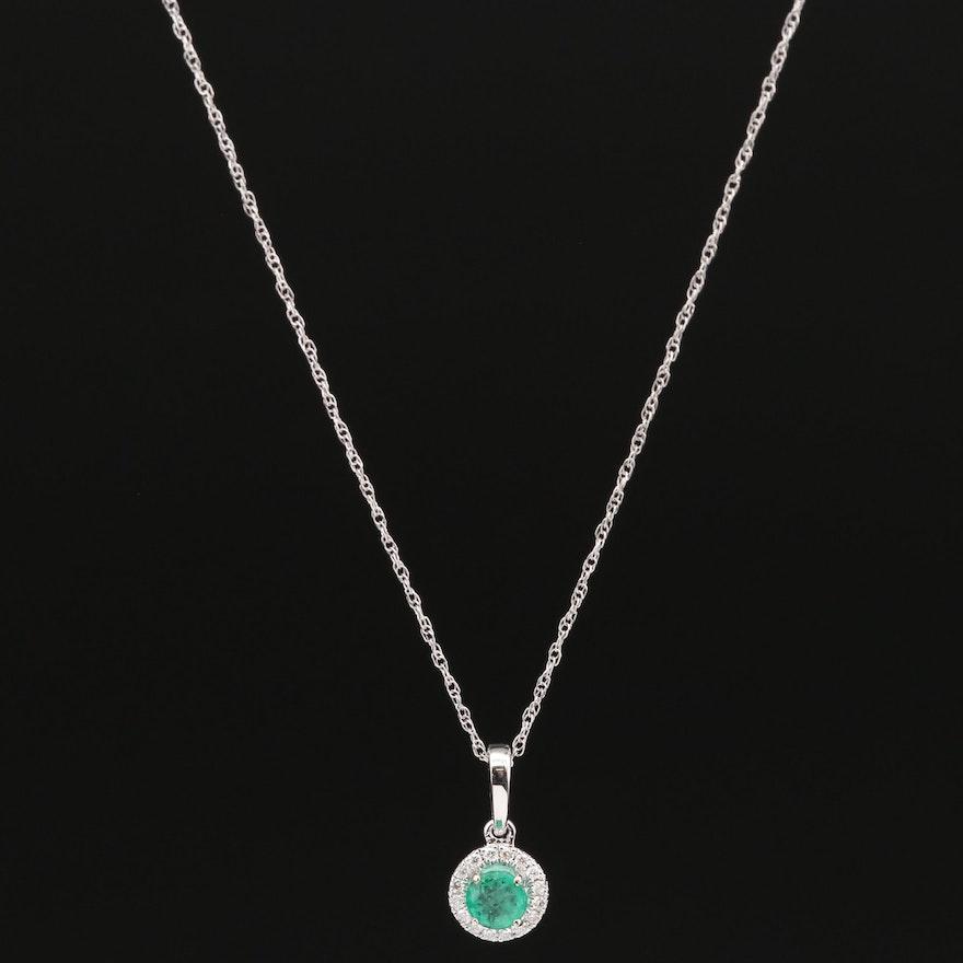 Natalie K. 18K Emerald and Diamond Necklace