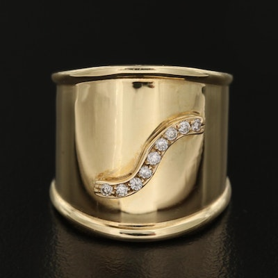Vior 14K Wide Diamond Band