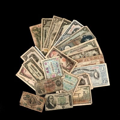 Antique to Vintage U.S. and Foreign Banknotes