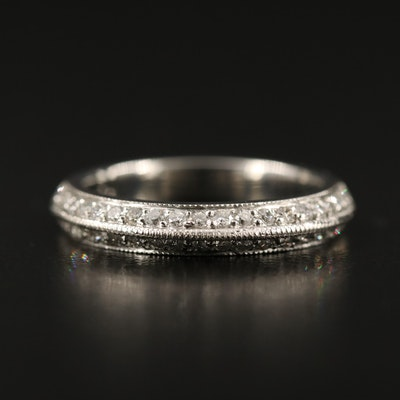 Platinum Knife Edge Diamond Band