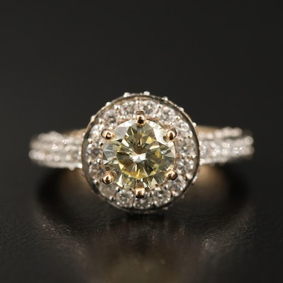 14K 2.46 CTW Diamond Ring with GIA Report