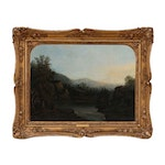 Robert S. Duncanson Oil Painting of American Landscape, Circa 1850 - 1852