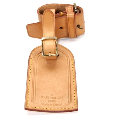 Louis Vuitton Vachetta Leather Luggage Tag and Loop
