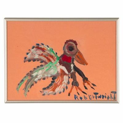 Robert Wright Acrylic Bird Painting