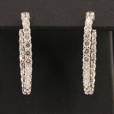 14K 3.15 CTW Diamond Inside-Out Hoop Earrings