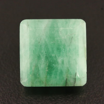 Loose 27.10 CT Square Faceted Emerald
