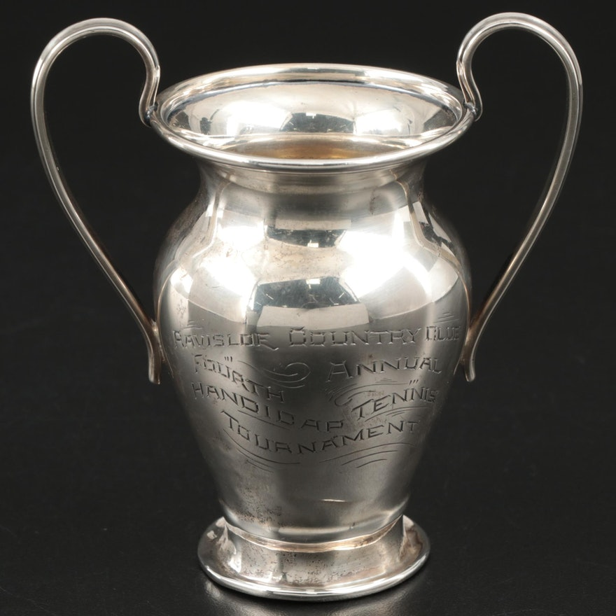 Mauser Manufacturing Co. Sterling Silver Tennis Trophy, 1905