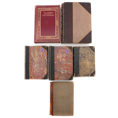 "Leather Bound ""The Adventures of Baron Munchausen"" and Other Books"