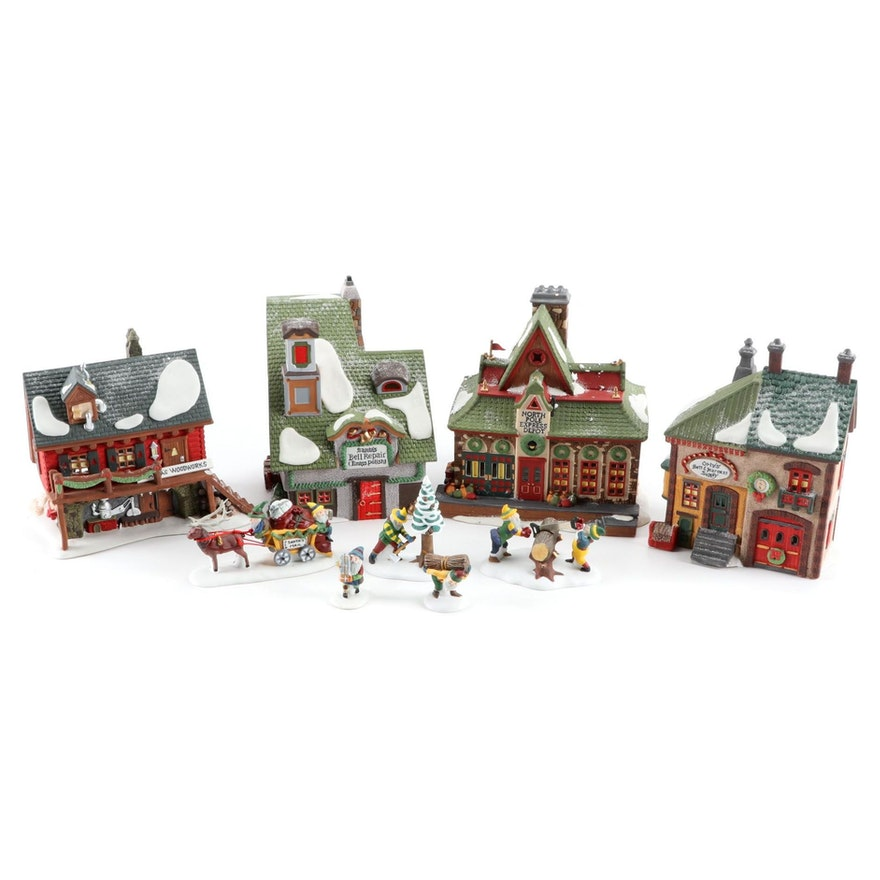 """Department 56 """"North Pole Series"""" Hand-Painted Porcelain Figurines"""