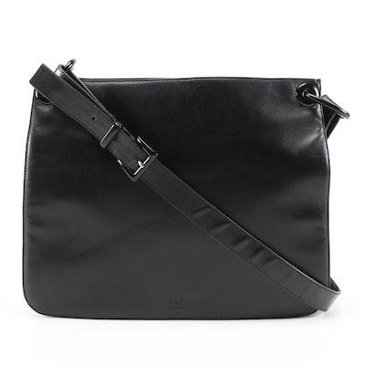 Prada Black Nappa Leather and Nylon Shoulder Bag