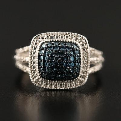 Diamond Split Shoulder Ring