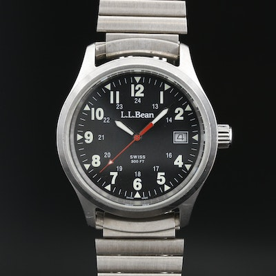 L.L. Bean Stainless Steel Quartz Field Watch