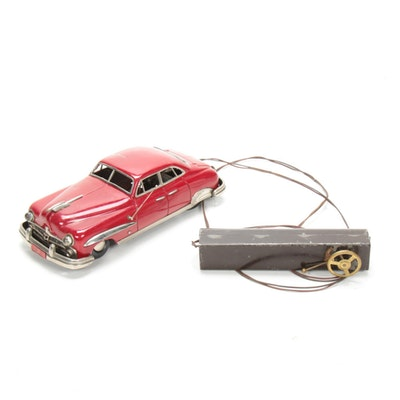 Ford 1951 Battery Operated Tin Car Toy, Antique