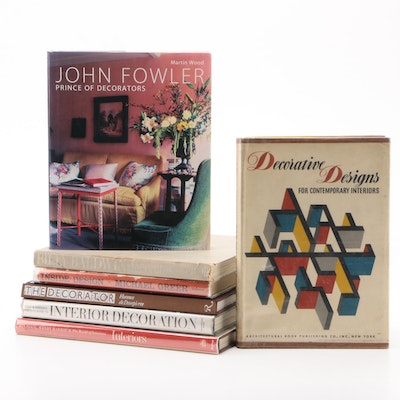 "Interior Design Books Including First Edition ""Billy Baldwin Decorates"""