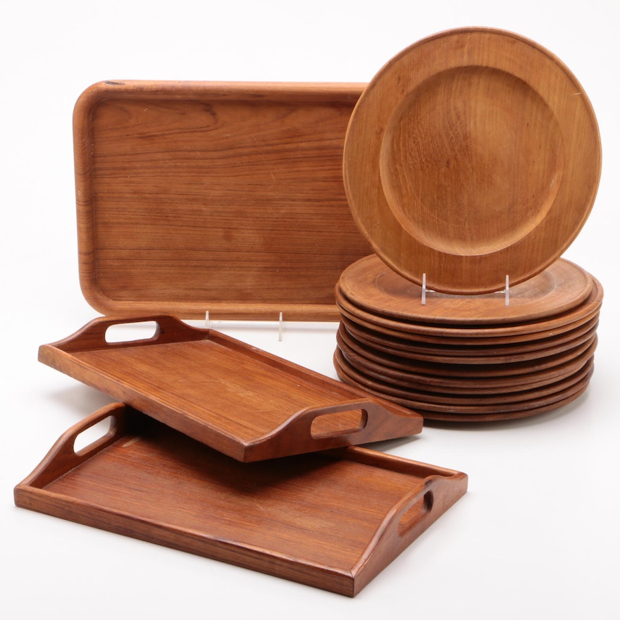 Winsome Wood and Other Teakwood Trays and Chargers