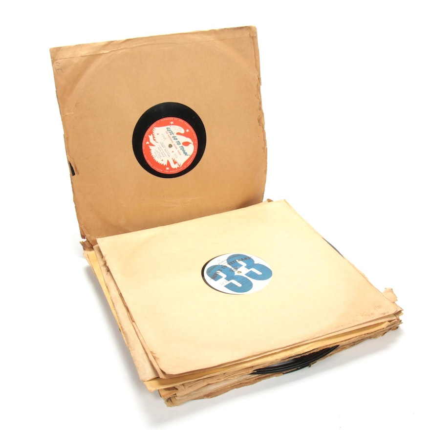 """1950s NBC and Commercial 16"""" Radio Broadcast Transcriptions Disc Records"""