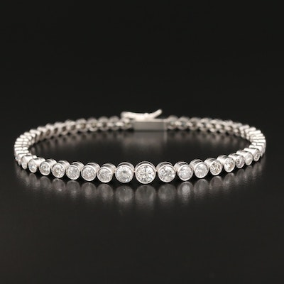 Platinum 4.64 CTW Diamond Graduated Link Bracelet