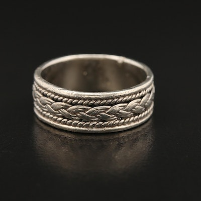 Sterling Silver Braid Motif Band