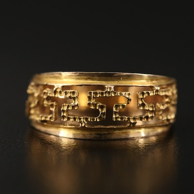 14K Cut Out Tapered Band