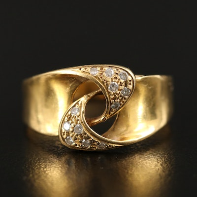 18K Diamond Interlocking Ring