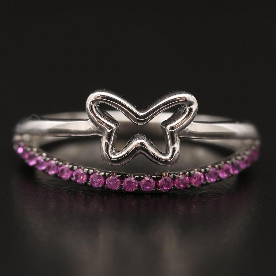 14K Ruby Open Butterfly Ring