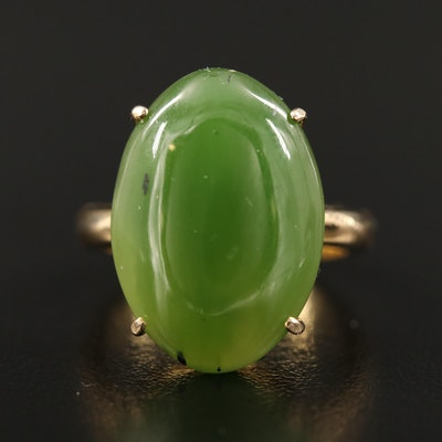 14K Nephrite Ring