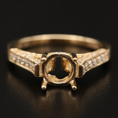 14K Diamond Semi-Mount Ring