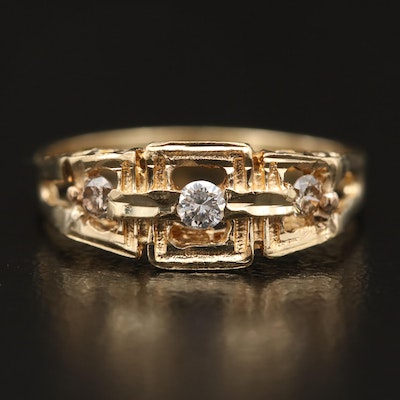 14K Openwork Diamond Ring