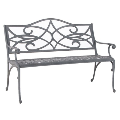Scrolled Metal Patio Bench