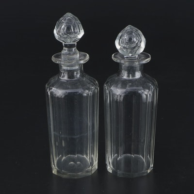 Mold Blown Glass Decanters, 19th Century