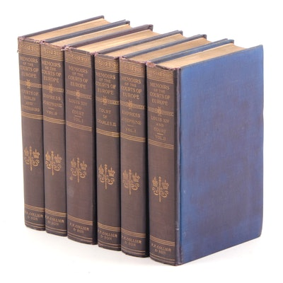 """Memoirs of the Courts of Europe"" Incomplete Set, 1910"