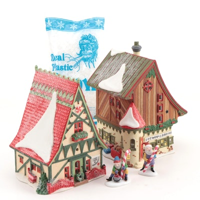 "Department 56 North Pole Series ""Start a Tradition Set"" Porcelain Table Décor"
