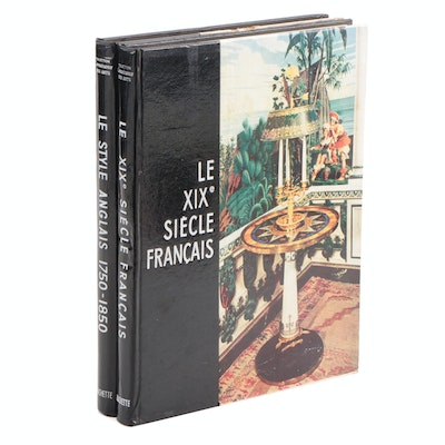 "French-Language Design Books Including ""Le style anglais 1750–1850"" by F. Spar"