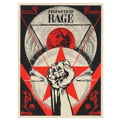 "Shepard Fairey Serigraph ""Prophets of Rage: New Day Rising"", 2017"