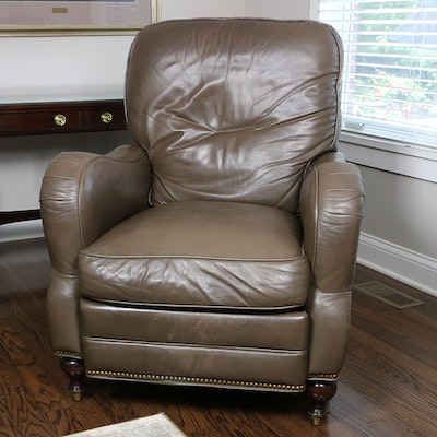 MotionCraft Leather Reclining Armchair with Nail Trim