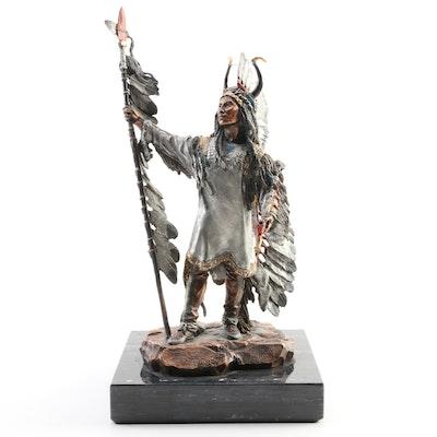 "Christopher Pardell Mixed Media Sculpture for Legends ""Triumphant"""