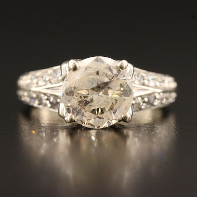 14K 2.31 CTW Diamond Ring with Milgrain Detailing