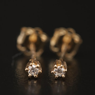 14K 0.04 CTW Diamond Stud Earrings