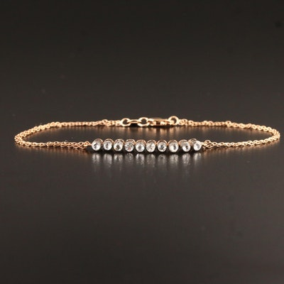 8K Bezel Set Diamond Bracelet