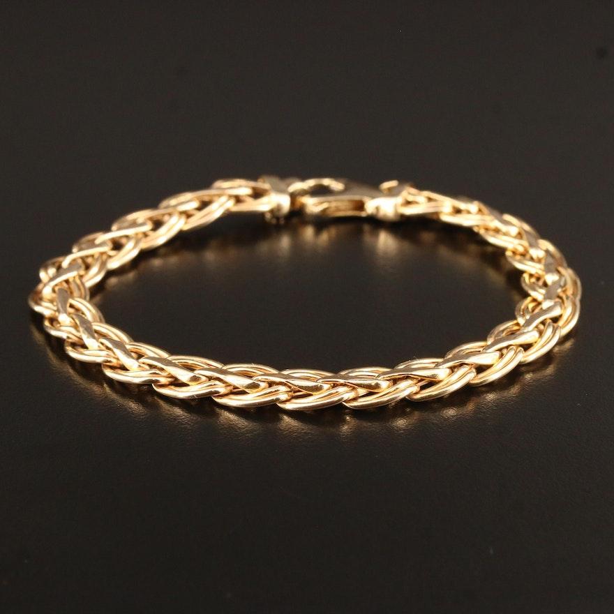 14K Fancy Link Bracelet