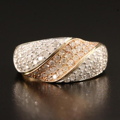 14K 1.18 CTW Pavé Diamond Ring