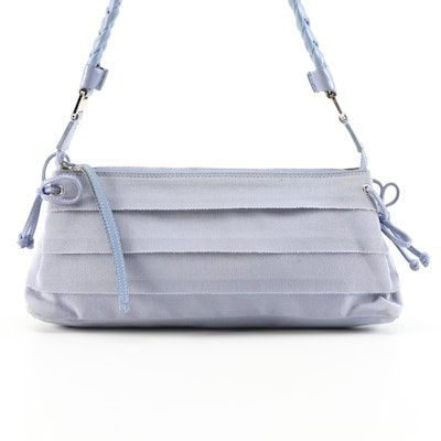Salvatore Ferragamo Periwinkle Layered Grosgrain Shoulder Bag