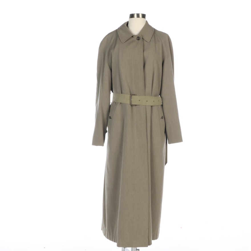 Women's Burberry Cotton Trench with Wool Zip-In Lining