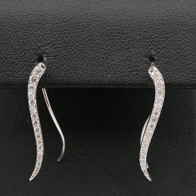 14K Diamond Graduated Ear Climbers